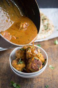 Thai red curry chicken meatballs
