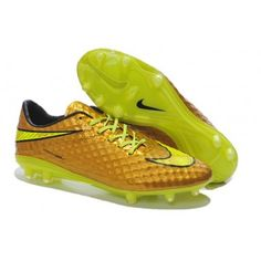 Gold Nike Hypervenom Phantom Premium Fg Volt Black New