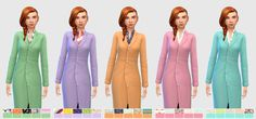 I made these lab coat recolours for Avery but you guys seem to really like them…