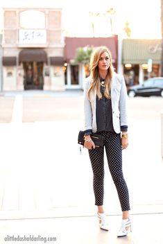 Blazer by H&M, blouse by Madewell, jeans by J.Crew, clutch by Louis Vuitton, heels by ShoeMint. (March 27, 2013)