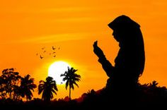Photo about Silhouettes of a woman praying during sunset. Image of mercy, muslim, devoted - 42659798 Muslim Faith, Muslim Pray, Muslim Girls Photos, Prayer Photos, Drawing Sunset, Hijab Cartoon, Islamic Girl, Sunset Images, Draw On Photos
