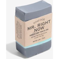 Whiskey River Soap Co. Mr. Right Now Bar Soap ($9.90) ❤ liked on Polyvore featuring beauty products, bath & body products and body cleansers