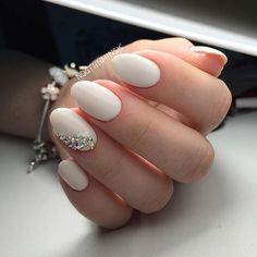 Pin for Later: 30 Chic Wedding Nail Art Ideas Your Mom Won't Yell at You For Wearing #nailart
