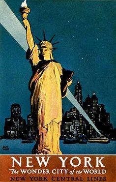 "New York Central Lines, ""New York, The Wonder City of the World"" (1927) Treidler"