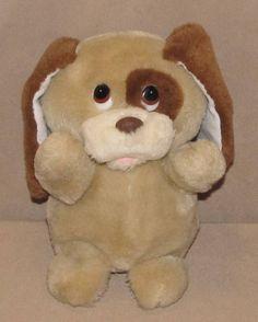 "7.5"" Russ Berrie Yappa Puppy Dog Tan Brown Plush Stuffed Item 429 Korea Vintage #Russ"