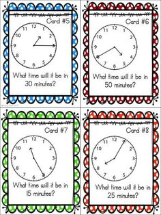 Practice telling elapsed time!  20 task cards!  Use in centers, SCOOT, or with the whole class!  Grades 2-4