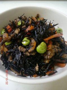 ✿簡単✿ひじきの煮物 Japenese Food, Baked Vegetables, Junk Food, Bento, Stir Fry, Tea Time, Food And Drink, Tasty, Snacks