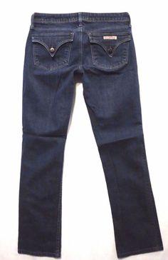 Hudson size 26 Stella straight leg Slim ankle crop Dark Low rise Womens jeans #HUDSON #StraightLeg