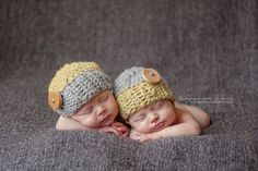 Hey, I found this really awesome Etsy listing at http://www.etsy.com/listing/104376960/two-crochet-baby-hats-newborn