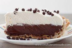 Chocolate Cream Pie from OrWhateverYouDO.com