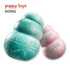 Train your pup to chew on his toys and not your shoes with these fun Kong stuffers. Fill with a variety of fillings, or freeze with water in the summer for cool treat.