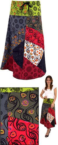 Patchwork Perfection Cotton Skirt - Purchase funds 50 cups of food for the hungry!