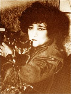Colette & her cats Francis & Gontier,