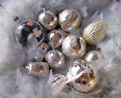 Vintage kerstballen!