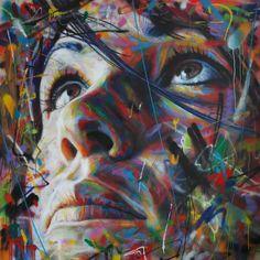 Graffiti : Portrait d'une femme by David Walker David Walker, Spray Paint On Canvas, Portrait Art, Painting Portraits, Portrait Ideas, Paintings, Amazing Street Art, Urban Art, Les Oeuvres