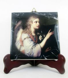 Saint Gabriel the Archangel ceramic tile religious gifts - catholic art by TerryTiles2014 on Etsy