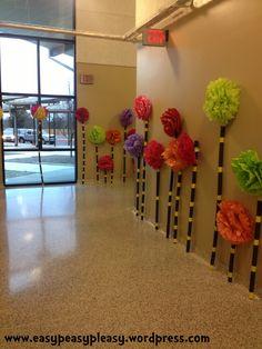 Dr. Seuss Truffala Trees hallway