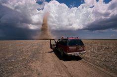 Land spout tornado, Kansas: Jim Reed