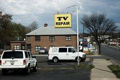 TV Repair Sign