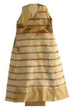 Surcotte of infanta Marie (+1235) made of white silk. Probably previously lined with fur. Museo del Traje, Madrid