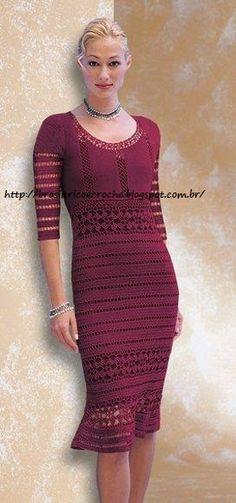 Brasil Tricô & Crochê - Orders made by hand - Encomendas feitas a mão.: Vestido Roma