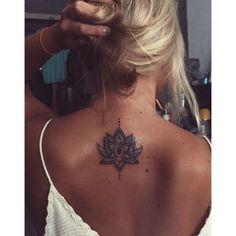 first tattoo was a success. Lotus Flower - tattoo -my first tattoo was a success. Lotus Flower - tattoo - 🌺Lotus Flower Tattoo Design to the one and only 🌺 Buy Inkshop Waterproof Temporary Tattoo Tattoo Back Girl, Tattoo Girls, Girl Neck Tattoos, Body Art Tattoos, New Tattoos, Lotus Tattoo Back, Tattoo On Back, Mandala Tattoo Back, Tatoos