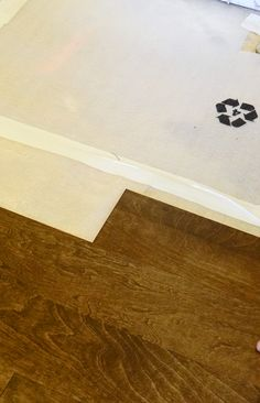Modern Laundry Room Makeover -- New Flooring