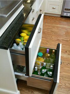 Mini-fridge drawers