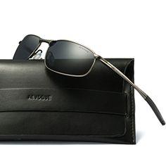 6909c04e4a2 AEVOGUE Polarized Sunglasses For Men Rectangle Metal Frame Retro Sun Glasses  AE0395