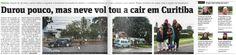 브라질 쿠리치바 시, 38년만의 '첫눈'에 시민들 '환영'