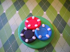 Casino Cupcake Toppers Edible Fondant Toppers by SugarArtByTami
