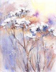 Zimowe baldaszki - Maria Roszkowska WATERCOLOR