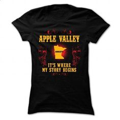 Apple Valley - Its where story begin - #flannel shirt #tshirt stamp. PURCHASE NOW => https://www.sunfrog.com/Names/Apple-Valley--Its-where-story-begin-Black-Ladies.html?68278