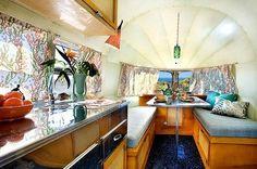 silver streak, vintage trailers, interior, silverstreak, airstream camper