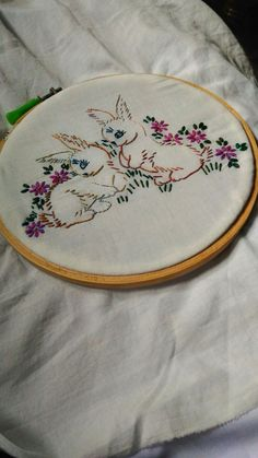 Hand embroidery stitching