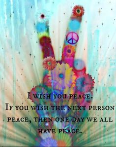 Peace via | Hippies Hope Shop | www.hippieshope.com <3 Every item sold provides a meal for someone in need! :)