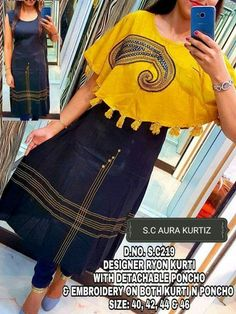Kurti has become the women and girls most favourite style statement to look stylish with the charming traditional look. These classy yet trendy kurtas are Churidar Designs, Kurta Designs Women, Kurti Neck Designs, Kurti Designs Party Wear, Blouse Designs, Simple Kurti Designs, Modele Hijab, Kurti Patterns, Salwar Pattern