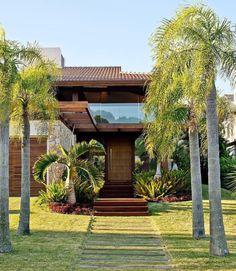 New exterior house design rustic dreams ideas Modern Exterior, Exterior Design, Duplex House, Exterior Front Doors, Farmhouse Interior, Facade Architecture, Tropical Houses, House Goals, Rustic Design