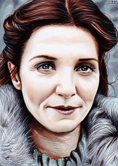 Game of Thrones - Catelyn Stark by Trev Murphy