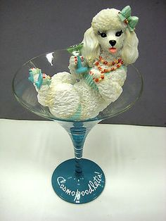 Cosmopoodletia! French Poodles, Cocktail Glass, Puppies, Babies, Cubs, Babys, Baby, Infants, Pup
