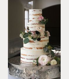10 Sensational Semi-Naked Wedding Cakes - Mon Cheri Bridals