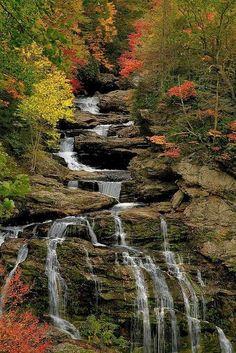 Cullasaja Falls, North Carolina - via Jean-Pierre Truant
