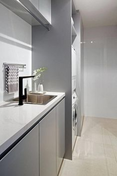 """Outstanding """"laundry room storage diy small"""" info is readily available on our internet site. Modern Laundry Rooms, Laundry In Bathroom, Laundry Nook, Laundry Decor, Laundry Storage, Laundry Room Design, Bathroom Design Small, Bathroom Layout, Armoire"""