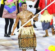 Who Was Tonga's Shirtless Flag Bearer at the Olympics Opening Ceremony?