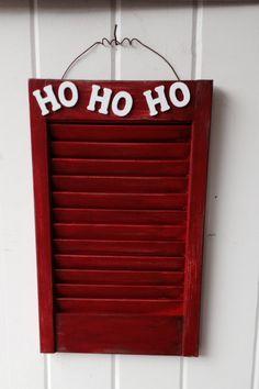 Repurposed Shutter into Christmas Card holder