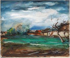 Maurice de Vlaminck, Paysage au toit rouge