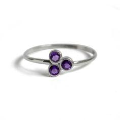 Amethyst Cluster, Amethyst Stone, Bracelet Knots, Bracelet Set, Small Rings, Dainty Ring, Stainless Steel Rings, Stacking Rings, Band Rings