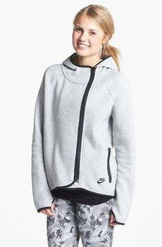 Nike 'Tech' Cape Jacket Grey Heather/ Black Small in  from Nordstrom on shop.CatalogSpree.com, your personal digital mall.