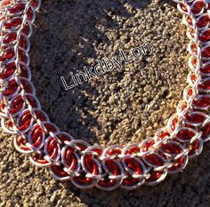 Candy Cane King's Scale Chainmail Bracelet | Linkdbylori - Jewelry on ArtFire
