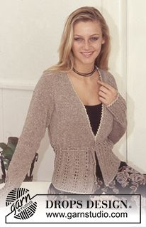 DROPS 73-12 - DROPS Cardigan in Silke-Tweed and Cotton-Viscose. - Free pattern by DROPS Design